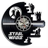Star Wars Vinyl-Schallplatte Wanduhr,Einfache Moderne Retro Wohnzimmer Dekoration Wanduhr-F 12inch