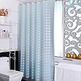LFF- Nordic Kleine Frische Duschvorhang Badezimmer Umweltschutz Partition Vorhang Wasserdichte Dicke Warme Badezimmervorhang (Größe : 200X220cm)