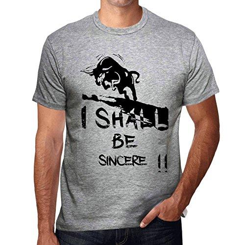 Sincere maglietta grigio maglietta cam parola maglietta regalo Grigio