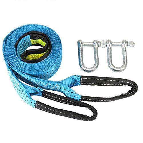 Preisvergleich Produktbild fomccu KFZ-Gurt Seilen 3 m 8tons mit Phosphoreszierendes U-Haken gesteckt für Auto Notfall