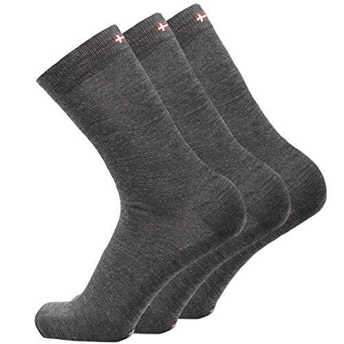 Calcetines de Lana Merino 3 Pares Gris, EU 43-47