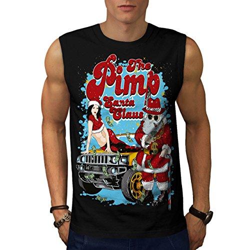 Weihnachtsmann Claus Heiß Weihnachten Herren S Ärmellos T-shirt   (Halloween Aber Heiße Kostüme Süß)