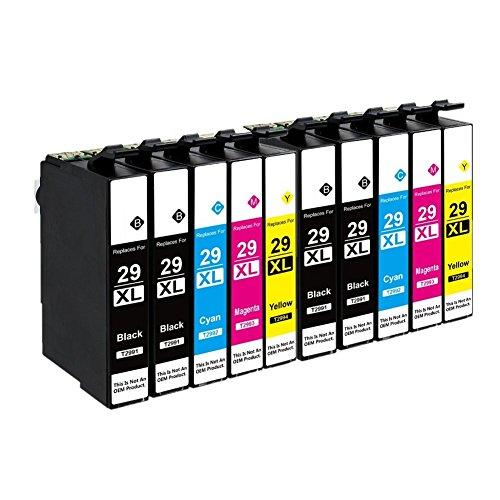 Azprint 10er Set Kompatibel Epson 29XL Druckerpatronen Hohe Kapazität mit Chip für Epson XP-235 XP-245 XP-332 XP-335 XP-342 XP-432 XP-435 XP-442 XP-445 XP-247 XP-345 Drucker   4 Schwarz, 2 Blau, 2 Rot, 2 Gelb