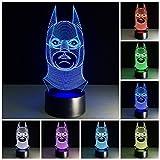 Ba Man 3D Effekt Illusion Lampen 7 Farben Led Nachtlicht Touch Schalter Schlafzimmer Schreibtisch Beleuchtung Schlafzimmer Dekor Geschenke