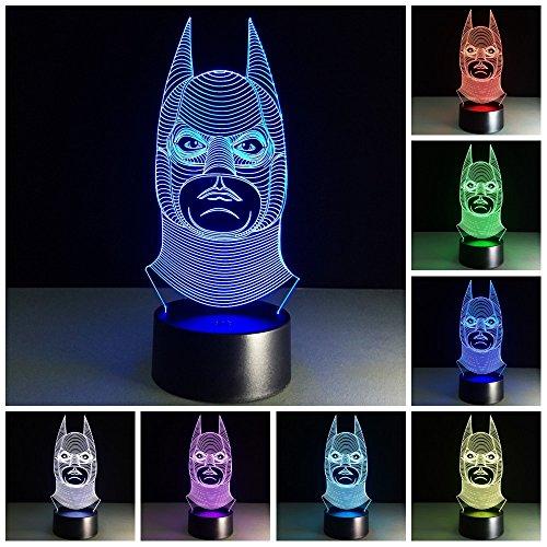 (Ba Man 3D Effekt Illusion Lampen 7 Farben Led Nachtlicht Touch Schalter Schlafzimmer Schreibtisch Beleuchtung Schlafzimmer Dekor Geschenke)