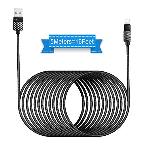 Opluz Charging Cable 5M Charger Cable16FT USB Fast Charging Durable Braided  Nylon Cabel Cord