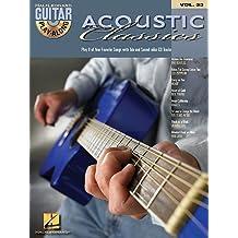 Guitar Play Along ACOUSTIC CLASSICS (+CD) mit Plektrum -- 8 zeitlose Klassiker u.a. von LED ZEPPELIN und EAGLES in Akustikversionen für Gesang und Gitarre in Standardnotation und Tabulatur (Noten/sheet music)
