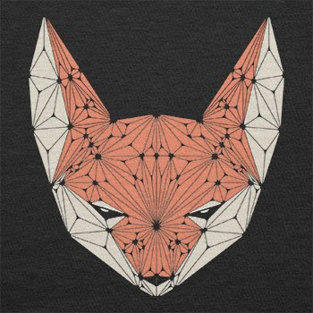 TEXLAB - Triangle Fox - Herren T-Shirt Schwarz
