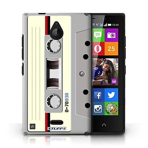 Kobalt® Imprimé Etui / Coque pour Nokia X2 Dual Sim / Amp/Amplificateur conception / Série Retro Tech Compact Cassette Audio