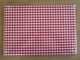 VICHY rot Papier Tischsets (Set von 100)