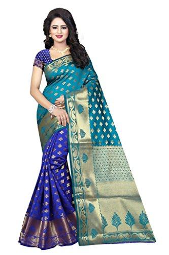 Rensil Women's Cotton Silk Jacquard Saree With Blouse Piece (Rnsl_Rich Pallu 5E...