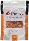 Perrito Hundeleckerli Chicken undSeafood Jerky Cats, kleine Geflügelfleischstreifen Meeresfrüchtee x trakt, 5er Pack (5 x 100 g)