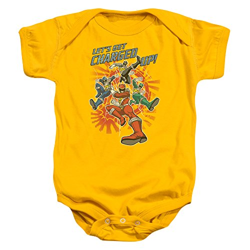 Power Rangers - - Toddler creuser Onesie, 6 Months, Gold