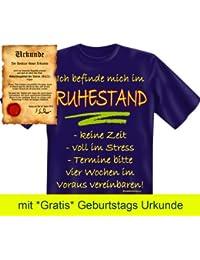 Witzige Rentner & Ruheständler Sprüche Fun Tshirt! Ich befinde mich im Ruhestand! - T-Shirt in Navy Blue mit Gratis Urkunde!