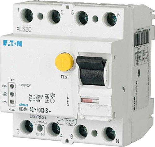 Eaton 167893 digitaler allstromsensitiver FI-Schalter, 40A, 4p, 30mA, Typ G/B