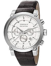 Esprit - EL102121F04 - Montre Homme - Quartz - Chronographe - Alarme/Chronomètre - Bracelet Cuir Noir