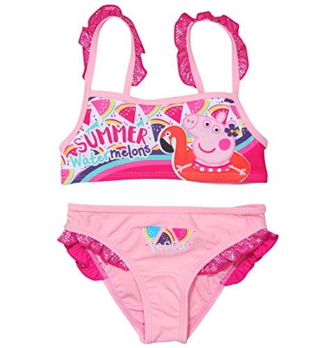 Peppa Wutz Bikini Bademode 2018 Kollektion 92 98 104 110 116 122 128 Neu Peppa Pig Rosa (Rosa, 92 - 98; Prime) (Peppa Badeanzüge Für Mädchen)