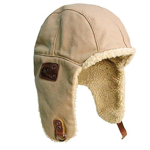 Kakadu Traders Wintermütze Skimütze Flieger-Mütze Chapka mit Teddyfell | Herren Damen Unisex Größe - Apres Ski Fell