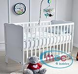 MCC Wooden Baby Cot Bed Toddler Bed Premier Water repellent Mattress