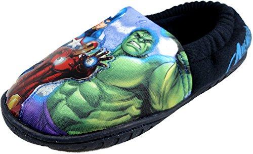 Per bambini Marvel Avengers luce up Pantofole Slip On taglia UK 10-3, blu (Navy), 30 EU Bambini
