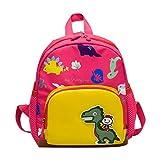 Sansee Kindergartenrucksack Dinosaurier Kinder Rucksack Schultasche für 1-7 jährige Jungen und Mädchen im und Kita Kleine und Große Freunde (Rosa)