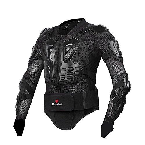 Misika Motorrad Fahrrad Protektoren Jacke Schutzkleidung Schutzjacke Schwarz/Rot M L XL XXL XXXL (Rot Motorrad-jacke)