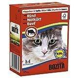 16 x Bozita Cat Tetra Recard Häppchen in Soße Lachs 370g, Nassfutter, Katzenfutter