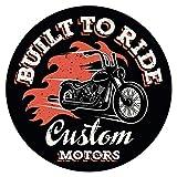 "I-love-Wandtattoo WAS-11539 América pared tatuaje salón ""Cool Chopper como logotipo de la motocicleta"" USA pegatina del vehículo continente americano motociclistas Estados Unidos Ruta 66 California alcobas Norteamérica de entrada Sudamérica"