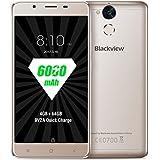 Blackview P2,Android 6.0,6000mAh gran batería,5.5 pulgada FHD 1920*1080,4GB RAM+64GB ROM,8MP+13MP cámara,MT6750T Octa-core 1.5 GHz,4g smartphone,Oro