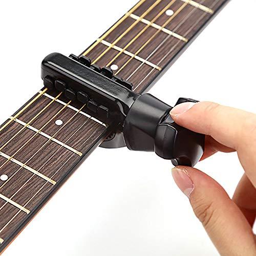 Guitar Capo Accordatore Multifunzione Accessori Per Strumenti Musicali Per Chitarre Strumento Di Accordatura Per Ukulele Cambio Rapido, Nero