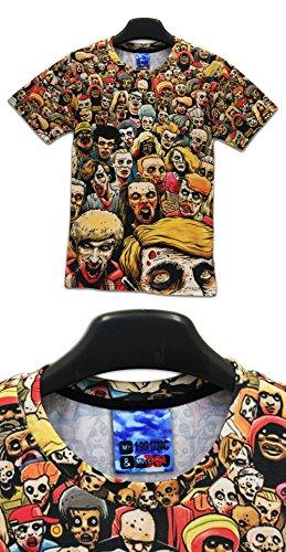 Yonbii  Herren T-Shirt Multicolored-H7