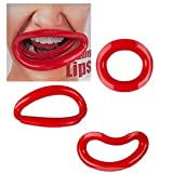 Bada Bing 3er Set Rote Lippen Funny Crazy Lips Accessoires Mundöffner Form Kunststoff Verkleiden Party 85
