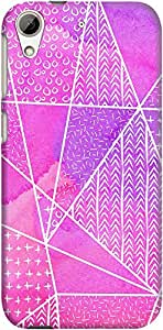 DailyObjects Watercolour Pattern Stripes Pink Case For HTC Desire 626