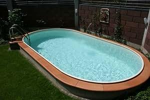 Ovalbecken Swim 5,30 x 3,20 x 1,50 m 0,8 mm sandfarben