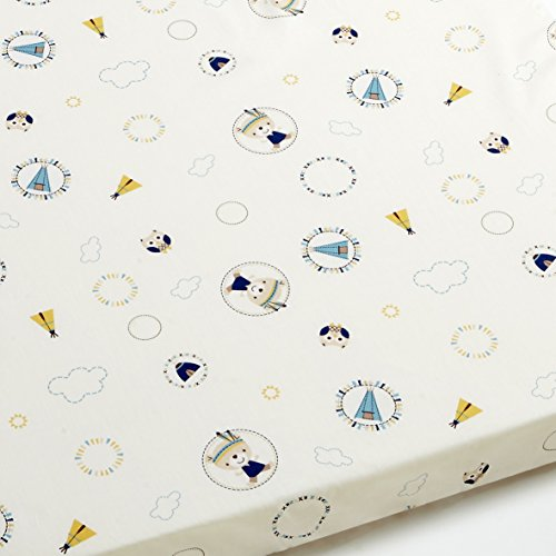 Drap housse bébé Tipi bleu - Rectangle, 50x80