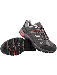 Crivit Damen Trekkingschuhe Wanderschuhe Trekking Schuhe Atmungsaktiv Wasserdicht (38, Grau-Rot)
