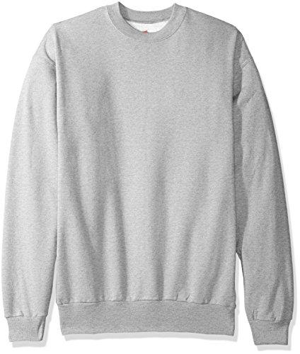 Hanes Herren Fleece-Sweatshirt EcoSmart - grau - Groß (Hard Hard Play Work Hoodie)