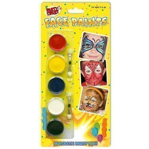 Kinder Party Make-up Make-up Gesicht Malset Rot Schwarz Blau Weiß