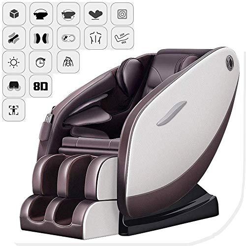 SISHUINIANHUA Massagestuhl Elektro Sessel Zero Gravity/Bluetooth Musik/Genuss/Back heiße Kompresse/Hip Vibration/Fuß Rolle Massage/Timed ENTSPANNEN