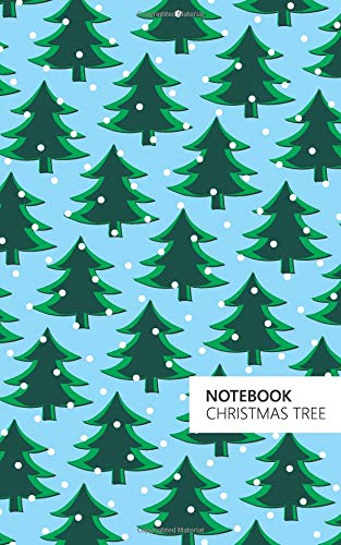 Christmas Tree Notebook: (Powder Blue Edition) Fun notebook 96 ruledlined pages (5x8 inches  12.7x20.3cm  Junior Legal Pad  Nearly A5)
