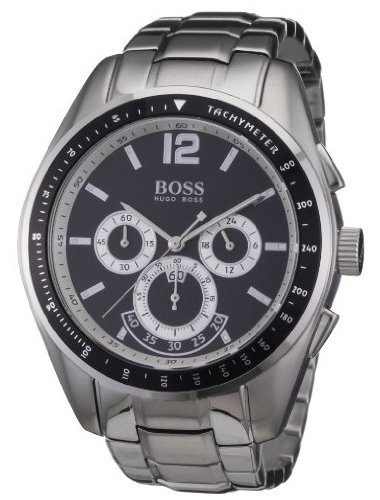 Hugo Boss – 1512404 – Gents Watch – Analogue Quartz – Black Dial – Chronograph – Stainless Steel Silver Strap