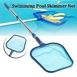 learnarmy Poolkescher Gartenteichkescher Schwimmbad Net Mit Teleskopstange Laubrechen Mesh Skimmer-Blatt Reinigungswerkzeug(35-105cm)