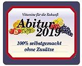 1art1 122609 Schule - Abitur 2019, 100 Prozent Selbstgemacht Mauspad 23 x 19 cm