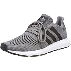 adidas Swift Run, Zapatillas de Gimnasia para Hombre, Gris Three F17/Core Black/Medium Grey Heather, 42 EU