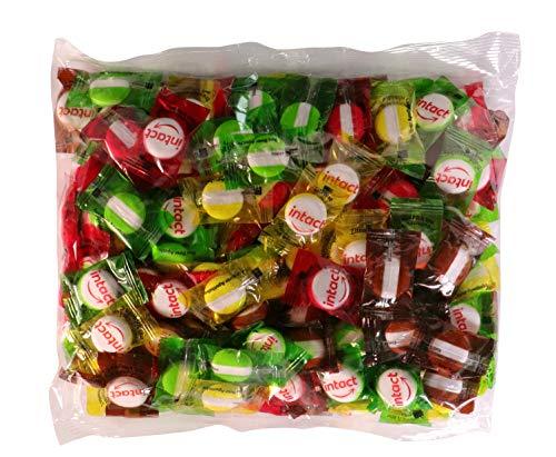 intact Traubenzucker, Kindermischung mit Vitamin C, 500g Vorratspack - ca. 180 Bonbons einzeln verpackt - Traubenzucker