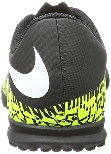Nike 749912-017, Chaussures de Football Garçon, Blanc, M Noir