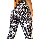 Pantaloni yoga-Yoga femminile a vita alta Leggings di fitness in esecuzione pantaloni sportivi elasticizzati pantaloni- Usura Fitness Per Le Donne Skinny, Allenamento Sport (nero,M)