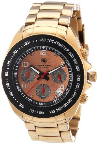 Constantin Durmont Crossfire CD-CROS-QZ-RG-RGRG-RG - Reloj cronógrafo de cuarzo para hombre, correa de acero inoxidable chapado color rosa (cronómetro)