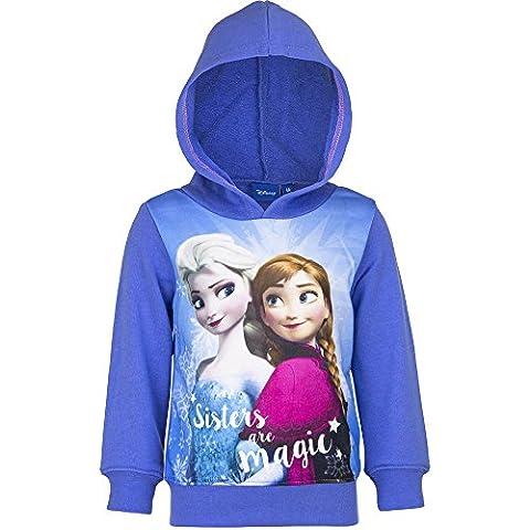 Disney Frozen Die Eiskönigin Kapuzenpullover Pullover Mädchen Hoodie Farbe blau, Größe 110
