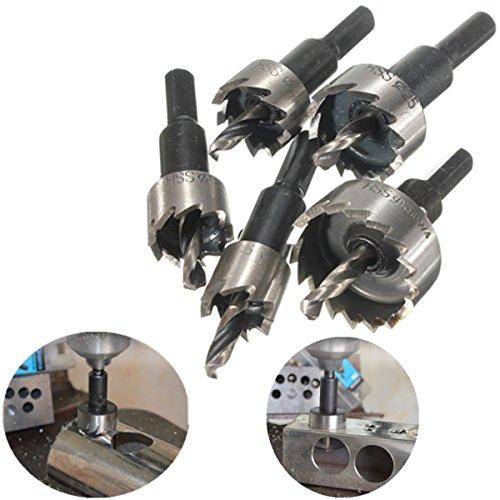 Mohoo 5PCS Carbide Spitze HSS Bohrer Lochsäge Set Edelstahl Metall Legierung 16-30mm